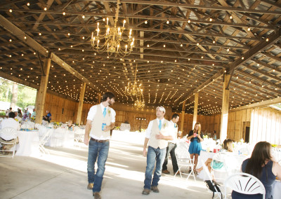 Groomsmen at barn wedding