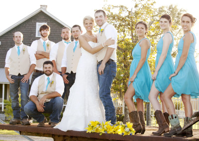 Wedding Party at Thompson Farm
