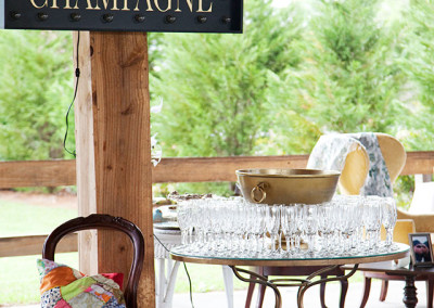 Wedding reception at Thompson Farms Bucksville Hall
