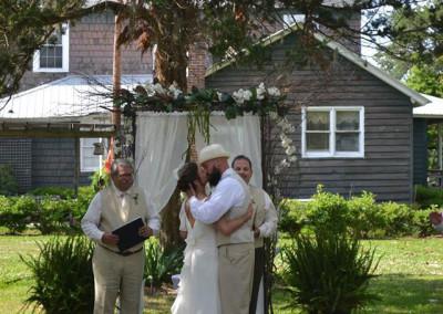 Thompson Farms Bucksville Hall wedding ceremony