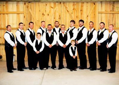 Wedding party at Thompson Farms Bucksville Hall