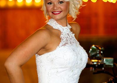 Bride at Barn wedding in Conway, SC