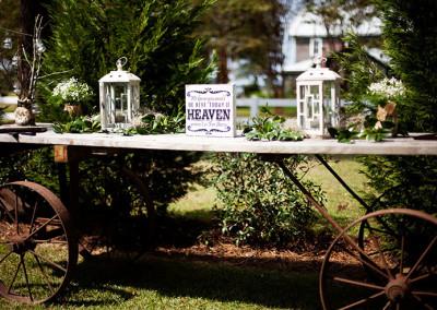 Farm wedding in Conway, SC
