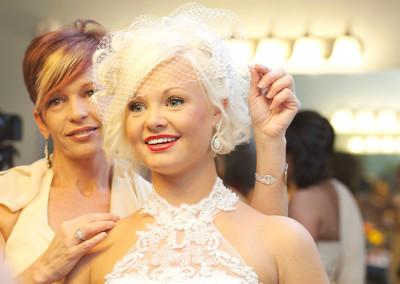Bride at farm wedding