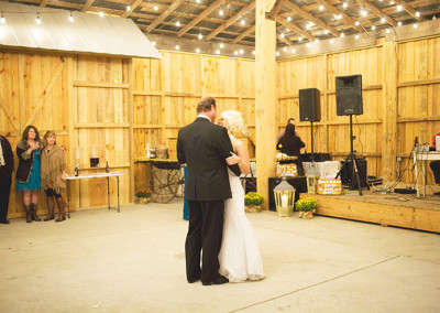 Farm wedding dance