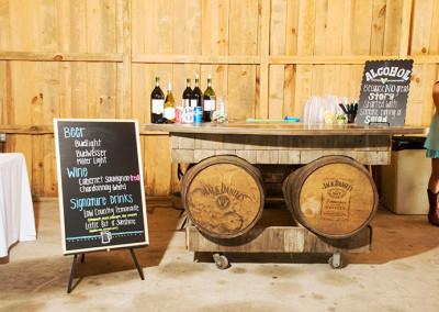 Wedding party barn