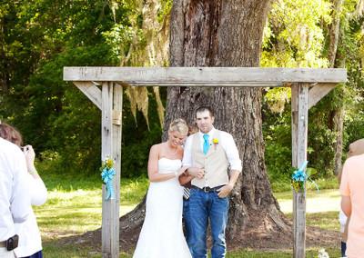 Bride and Groom at Thompson Farm