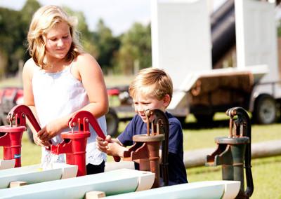 Kids enjoy farm activities