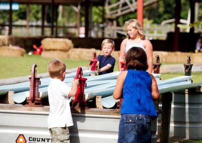Kids enjoying the farm fun