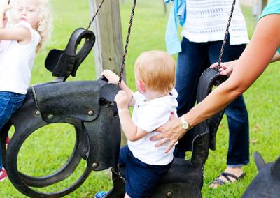 Swing on the nursery