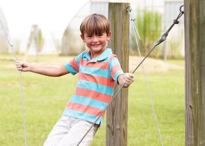 Students play at Lumberton, NC farm