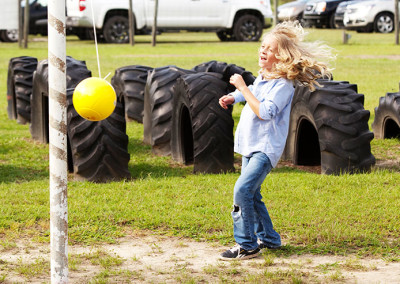 Tetherball at the farm