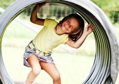 Child plays at Thompson Nursery
