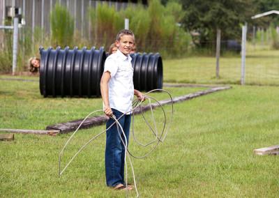 Lasso rope at Thompson Nursery
