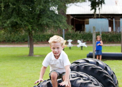Kids play at Conway, SC farm