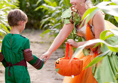 Halloween costumes at Thompson Farm