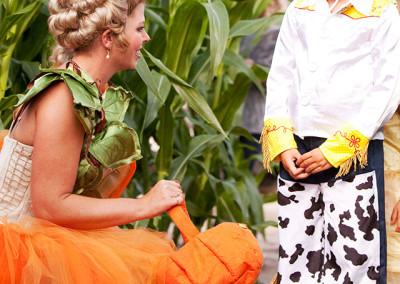 Halloween in the corn maze
