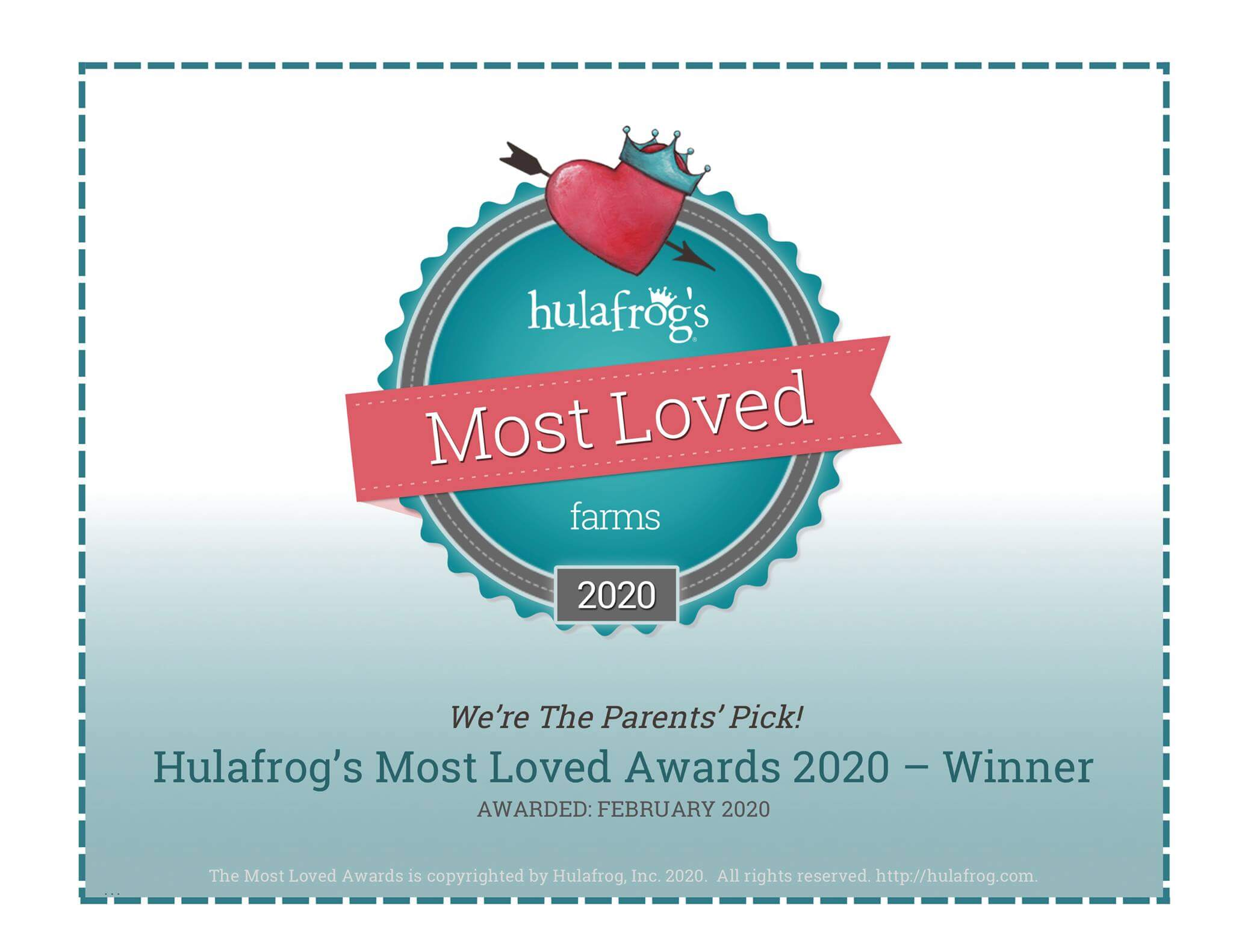 Hulafrog Most Loved 2020